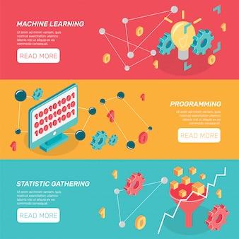 Banner orizzontali di apprendimento automatico