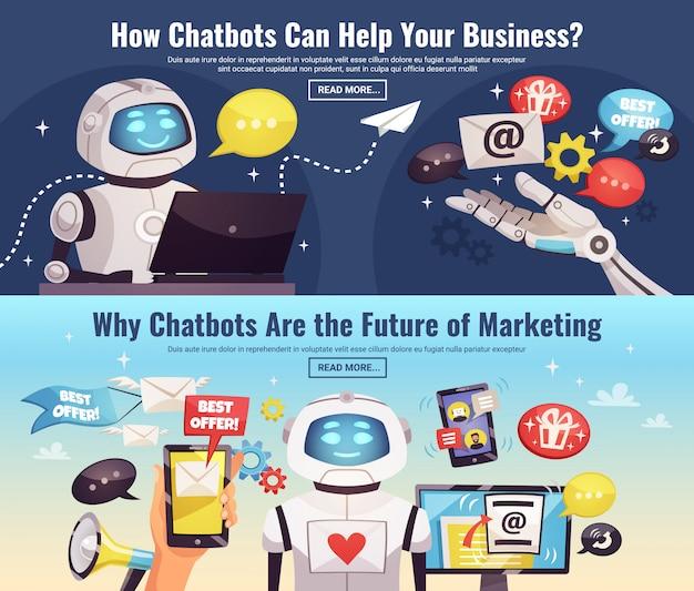 Banner orizzontali di chatbot