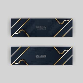 Banner oro di lusso dorato sfondo di colore chiaro sullo sfondo