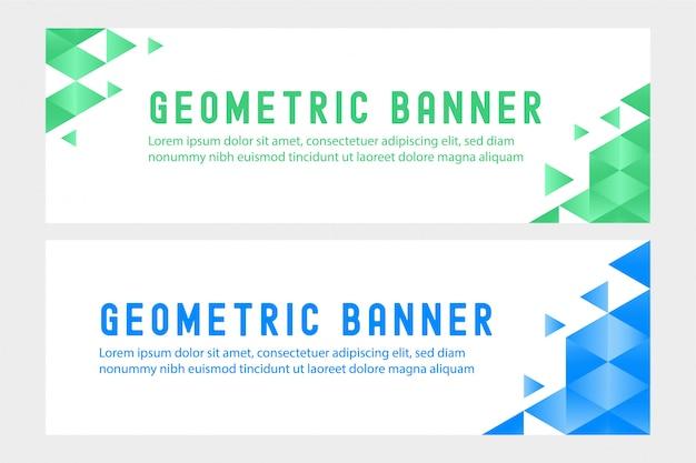Banner paesaggio geometrico