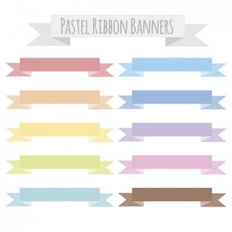 Banner pastelli a nastro