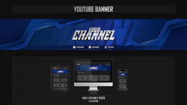 Banner per il canale dei social media con il concetto estetico