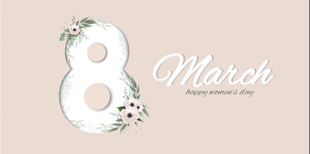 Banner per la giornata internazionale della donna.