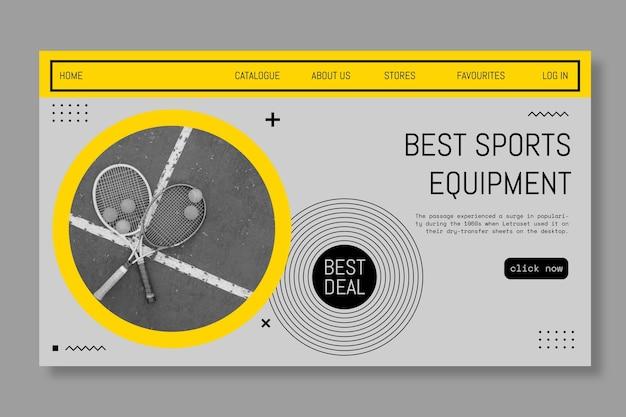 Banner per le migliori attrezzature sportive