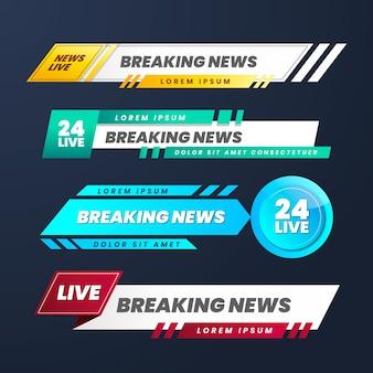 Banner per le ultime notizie dal vivo