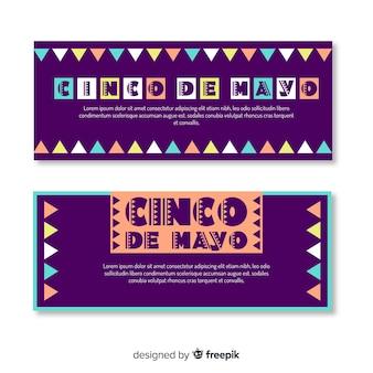 Banner piatto cinco de mayo