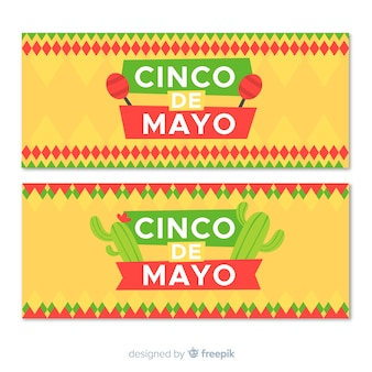 Banner piatto cinco de mayo