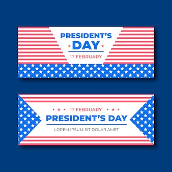 Banner piatto del giorno del presidente.