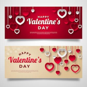 Banner piatto di san valentino
