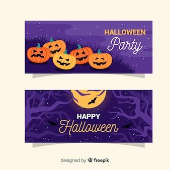 Banner piatto festa di halloween
