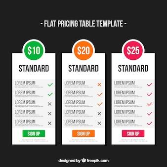 Banner prezzi per il web in design piatto