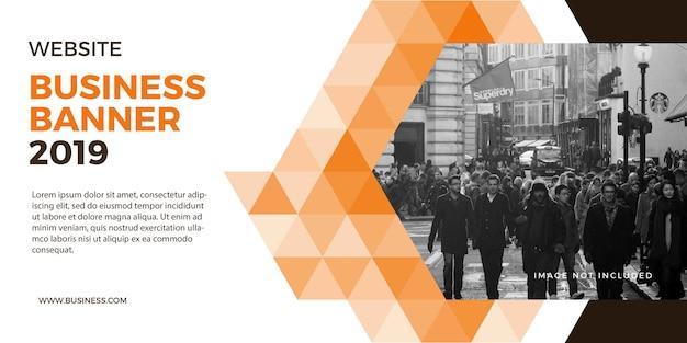 Banner professionale aziendale per sito web e sfondo