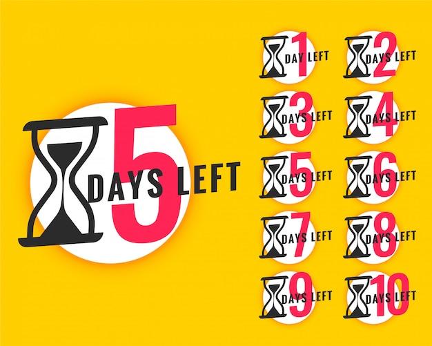 Banner promozionale con numero di giorni rimanenti