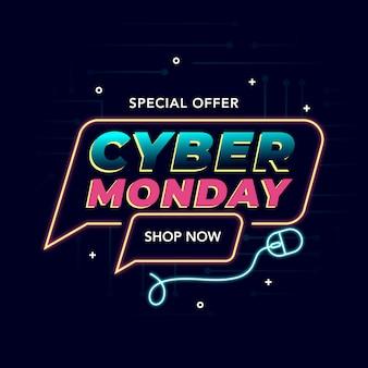 Banner promozionale del cyber monday