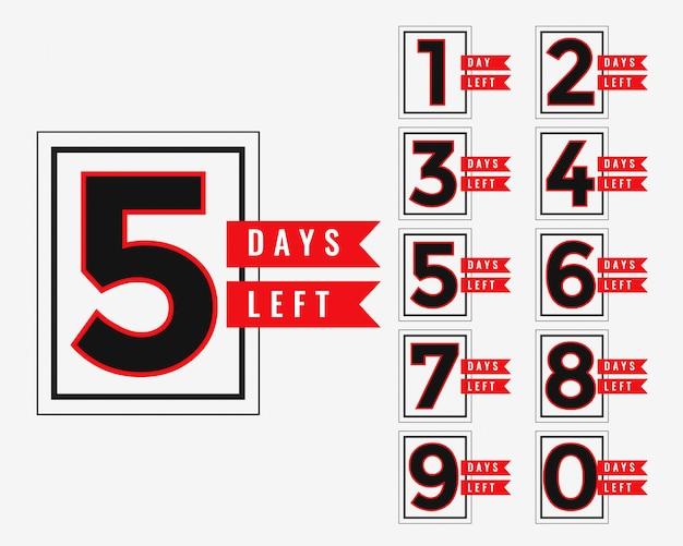 Banner promozionale del numero di giorni rimasti