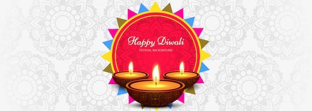 Banner promozionale di social media happy diwali
