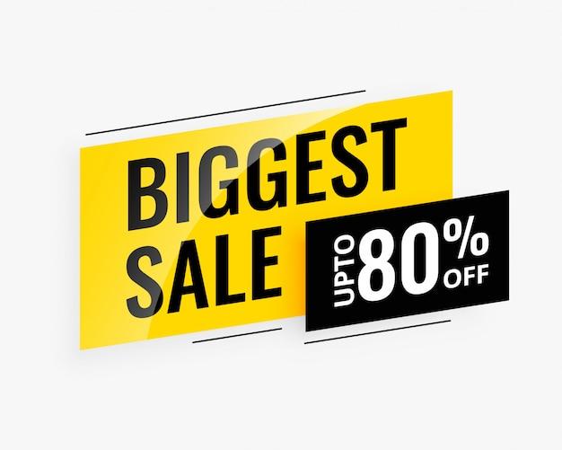 Banner promozionale di vendita più grande