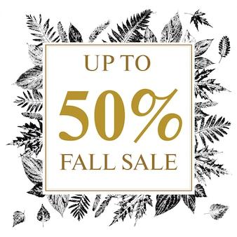 Banner promozionale di vendita vintage autunno o estate.