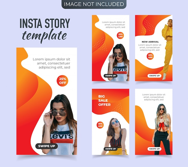 Banner promozionale per le storie di instagram