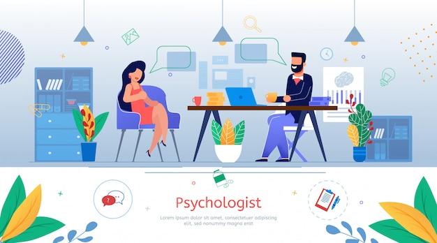 Banner promozionale piatto di consulenza psicologica