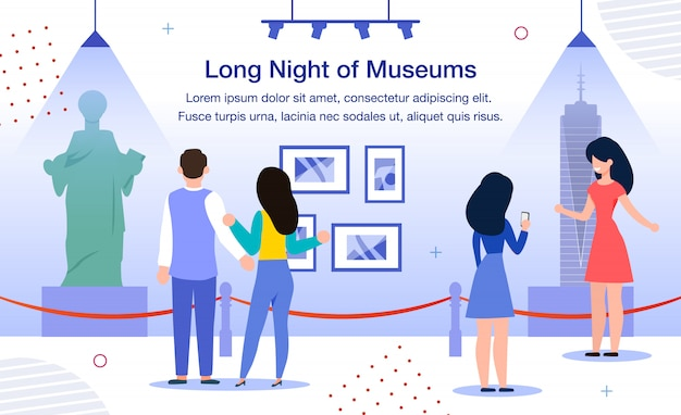 Banner promozionale piatto long night of museums