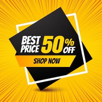 Banner promozione miglior prezzo vendita.