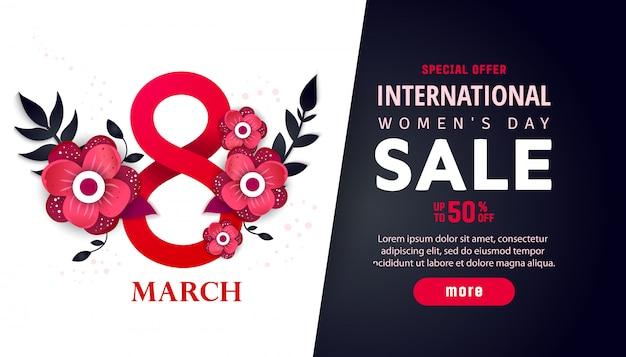 Banner pubblicitario internazionale femminile