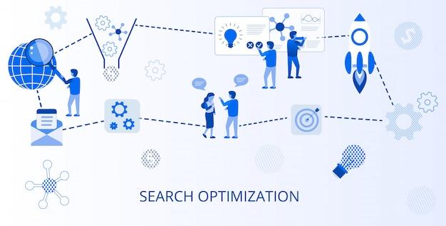 Banner pubblicitario online di ottimizzazione della ricerca