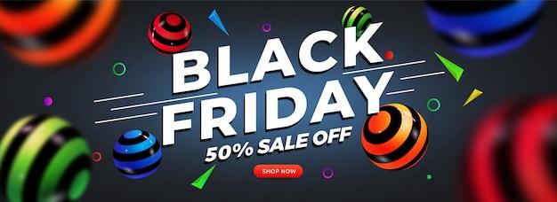 Banner pubblicitario per le vendite del black friday