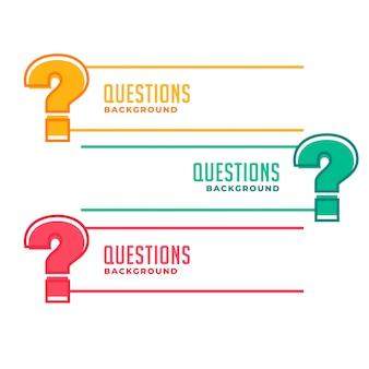 Banner punto interrogativo per aiuto e supporto