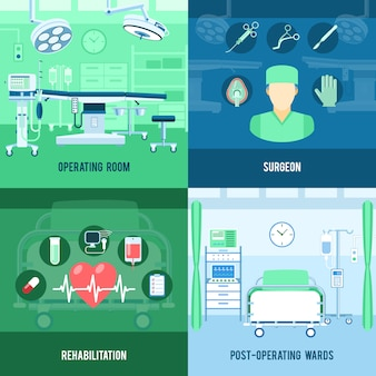Banner quadrati di chirurgia