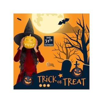 Banner quadrato di halloween