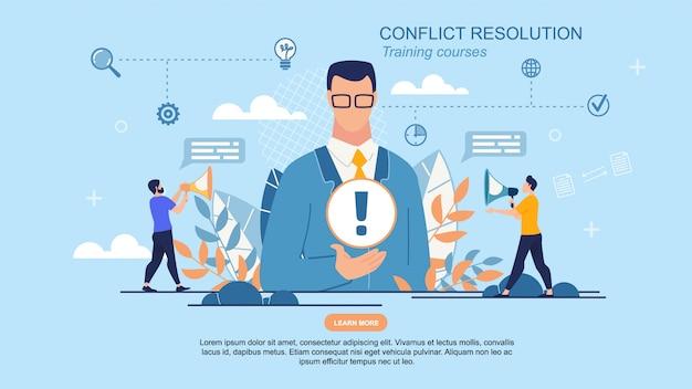 Banner rapido è risoluzione dei conflitti scritti.