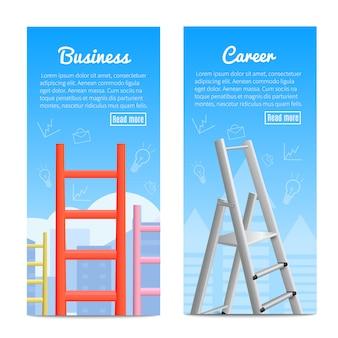 Banner realistici di scale di carriera
