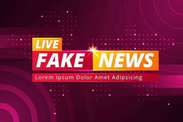 Banner realistico di notizie false