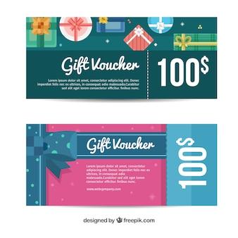 Banner regalo in design piatto