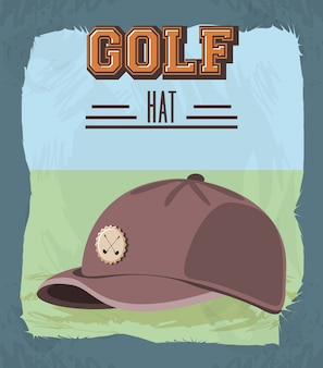 Banner retrò golf club con cappello