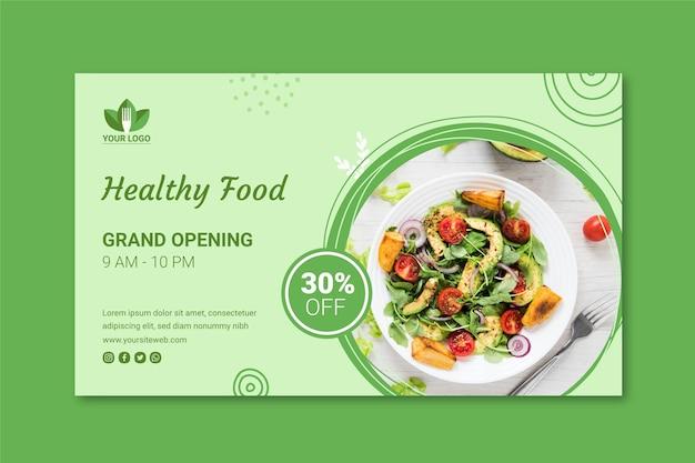 Banner ristorante sano
