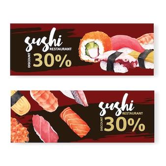 Banner ristorante sushi