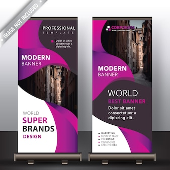 Banner roll up moderno mock up