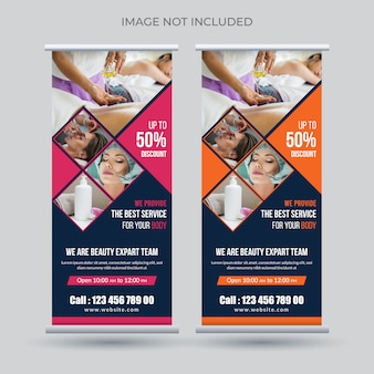 Banner roll up spa