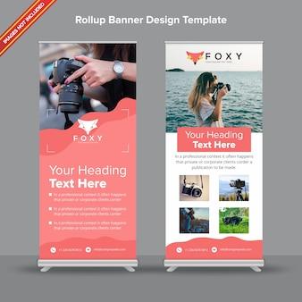 Banner rollup contemporaneo con design peach fluidity