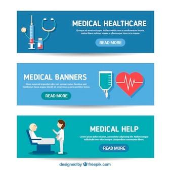 Banner sanitaria in dessign piatta