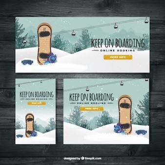 Banner snowboard ski