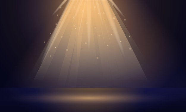 Banner spotlight, stile cartoon