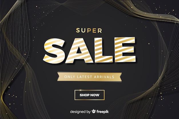 Banner super vendita con sconto speciale