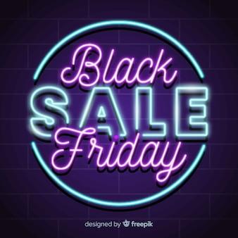 Banner super vendita venerdì nero neon