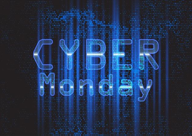 Banner techno moderno di cyber monday