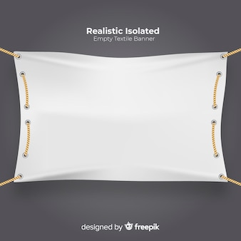 Banner tessile realistico