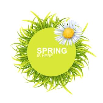 Banner tondo di primavera